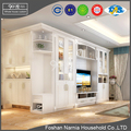 white PVC moulded modern wooden tv stand designs