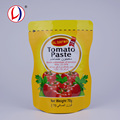 Colored Printed Stand Up Vaccum Seal Ketchup Tomato Sauce Packaging Plastic Bag For Sale