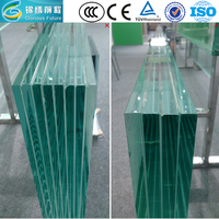 Clear float pvb laminated glass/safty tempered laminated glass with 0.76m PVB film (SGP) CE TUV certification
