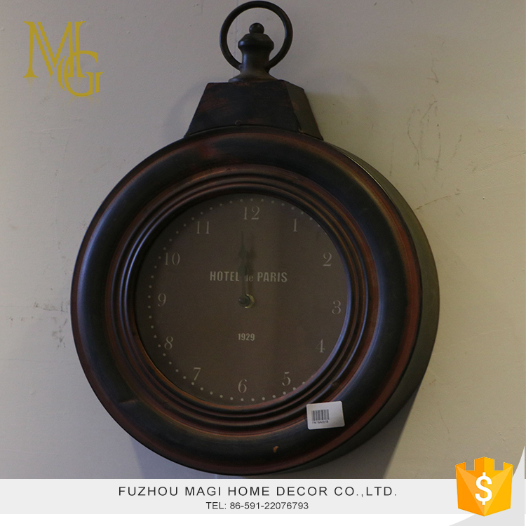 French style retro battery operated wall clock rhythm