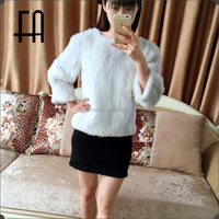 Factory direct wholesale price multicolor mink knitted fur poncho