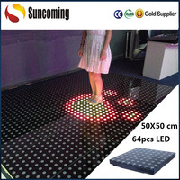 3 in 1 RGB Interactive Dance Floor LED Light for Disco Wedding Decoration
