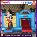 Commercial mickey mouse bounce house,inflatable bouncy castle with slide for sale,chateau gonflable