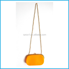 Candy Color Small Crocodile Texture Silicone Bag Chain Bag Shoulder Bag