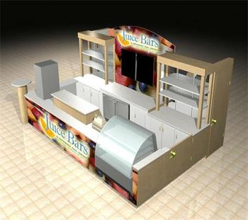 CE-KS-J100 CHEF ESSENTIALS customized design outdoor juice kiosk for shopping mall