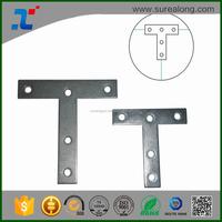 Custom Steel Metal flat Corner Braces Mending Plates angle T bracket