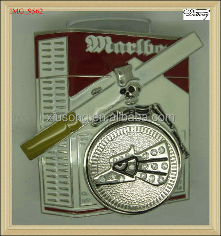 BUC5965 Western China Manufacturer Cigarette Case Belt buckle, lighter belt buckle