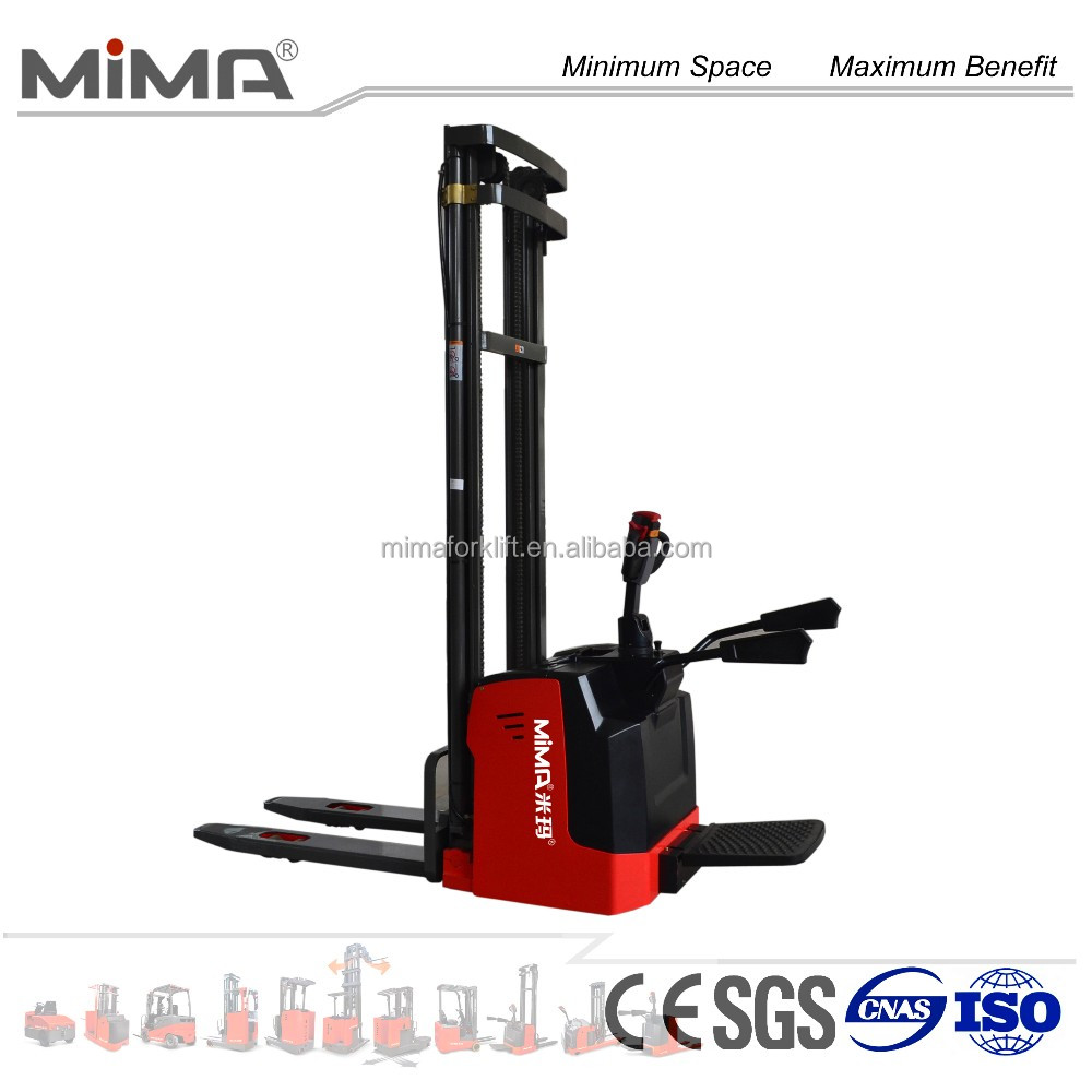 MIMA Full electric pallet stacker truck loading capacity 2000kg