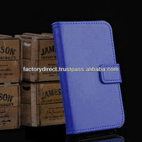 New Leather Flip Case Cover Pouch Bumper Wallet for iPhone 4 4G 4S Dark Blue Best Quality