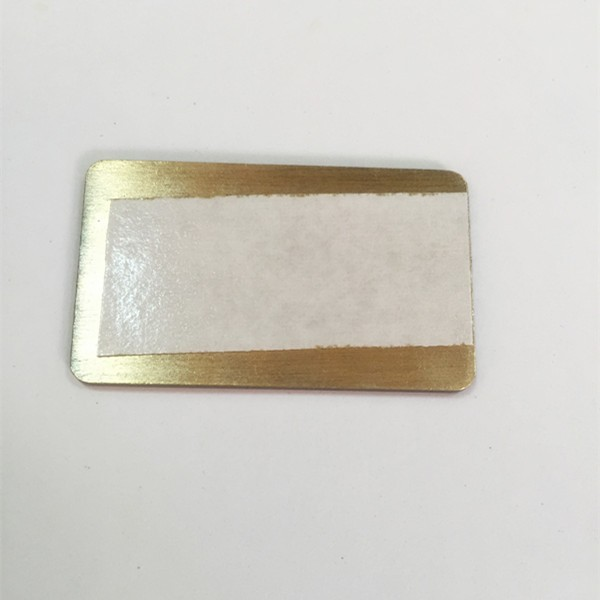 supplier embossed metal brand logo tag with 3m sticker china online shopping
