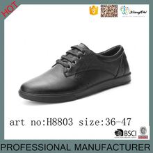 Size 14 Classical Leather mens Black casual board shoes