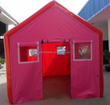 Pink Color Family Size Inflatable Camping Tent , Inflatable Air Tent Camping