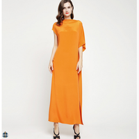T-D077 Latest Chiffon Asymmetrical Design Elegant Casual Women Maxi Dress