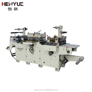 flat bed adhesive label and film label die cutting machine and die cutter