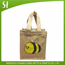 Wholesale reusable Custom Eco friendly Jute bag Customized jute shopping bag