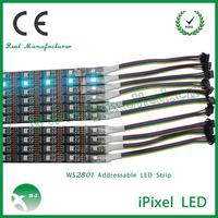 waterproof ws2801 led strip 5V 32leds/M white or black PCB