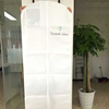 80gsm Non Woven Wedding Dress Suit Cover With Clear PVC Pocket