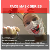 disposable mask with logo print