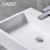 Man-made stone double vanity basin for sale