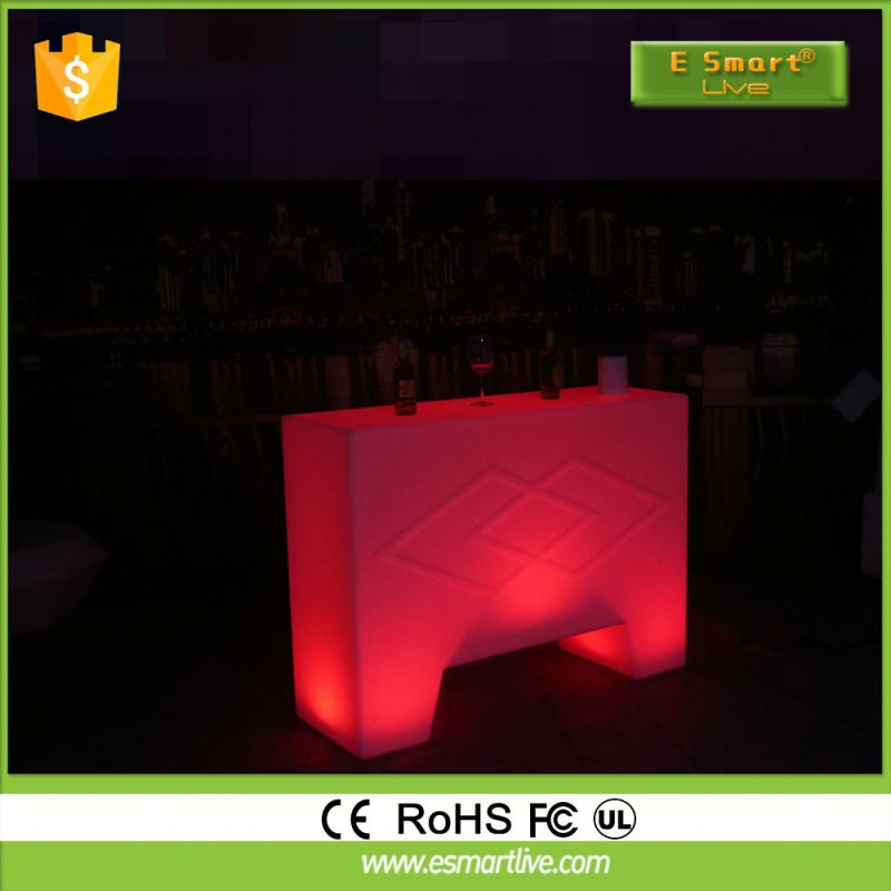 white translucent solid surface used led bar counterBar SetLed Furniture Cocktail Bar Table
