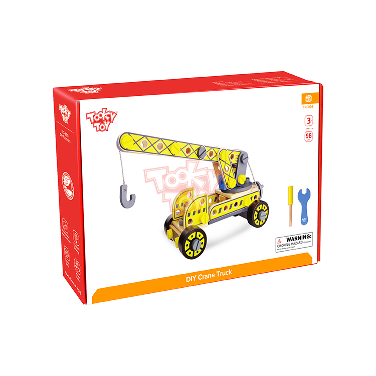 TOOKY TOY DIY Wood Toy Crane Truck