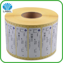 Direct manufacture customized waterproof roll self adhesive sticker perforated adhesive labels