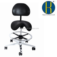 HY1034-1 High Quality Laboratory ESD Chair with Adjustable Height, PU saddlestool
