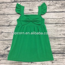 New coming girls one piece dress fashion kids frock dress wholsale summer dress design patterns kids