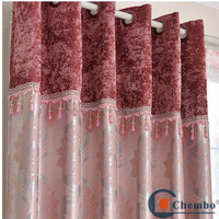 Modern block out faux suede valance eyelets curtain