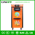 multi color floor standing soft ice cream making machine commercial