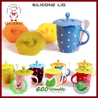 Eco-friendly high quality coffee mug cover / silicone lid