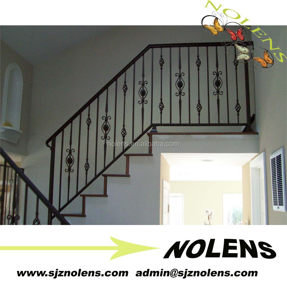 Indoor & Outdoor Wrought Iron Metal Curved Stairs Banisters Design