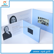 2016 New Business Gift Paper Invitation Card 7 inches lcd Digital Video Brochure