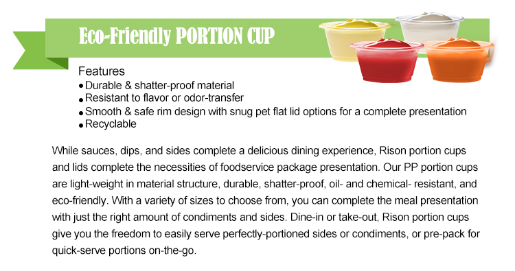 disposable biodegradable plastic souffle cup sauce cup portion cup pp portion cup ps portion cup pet portion cup