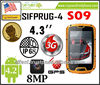 "SIFPRUG-4 S09 android 4.2 IP68 waterproof dustproof 4.3"" LCD WCDMA GSM 3G /GPS/1GB RAM/4GB ROM/MTK6589W Quad core 1.2G Phone"