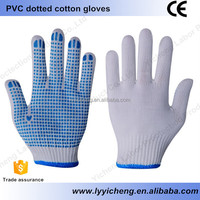 Colored PVC cotton gloves construction manufacturing mining and petroleum working gloves good quality
