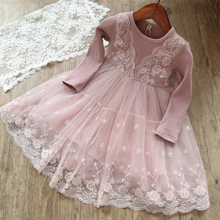 X89204A wholesale korean designer child girl lace dress for kids children boutique frocks clothing