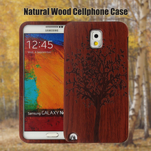 100% Nature genuine Bamboo Wood Phone Case for Samsung Galaxy Note 3 N9000 Handmade Protective Cover Hard Back Case