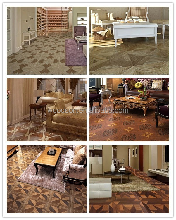 Durable Solid Wood Parquet Flooring Oak Tiles