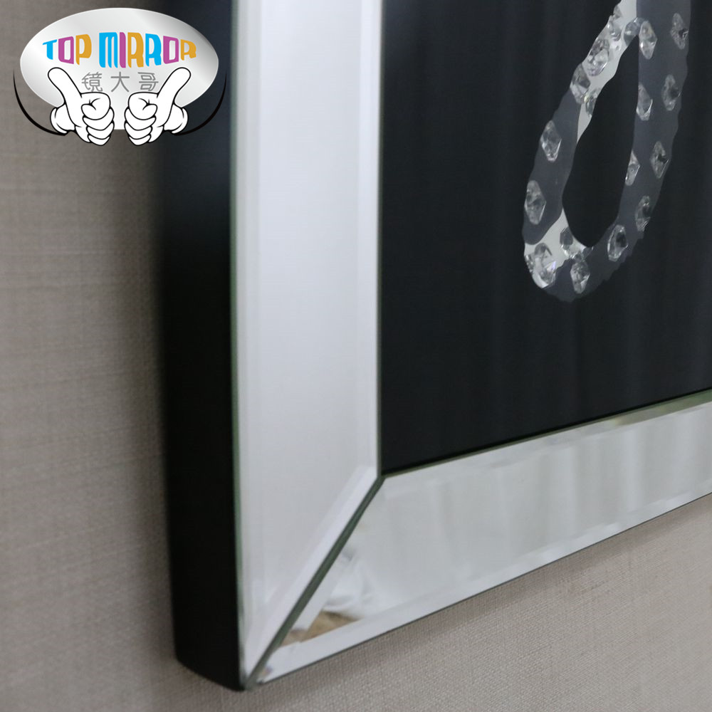 TOP MIRROR M-1016 90*60CM handcrafted crystal glass painting for home decoration