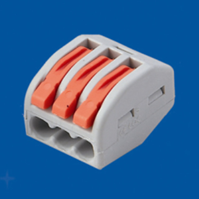 KB58-3 High Quality Wago Types 3-way Terminal Block Connectors 224-201