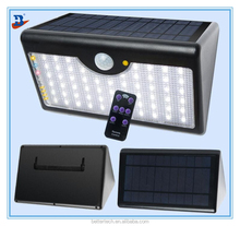 Super Bright Solar Powered 60LED Outdoor Motion Activated Detector Sensor Security Garden Light with remote control function