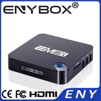 EM95X Amlogic S905X Android 6.0 Quad Core 2G RAM 2.4G WIFI Android TV Box 4K