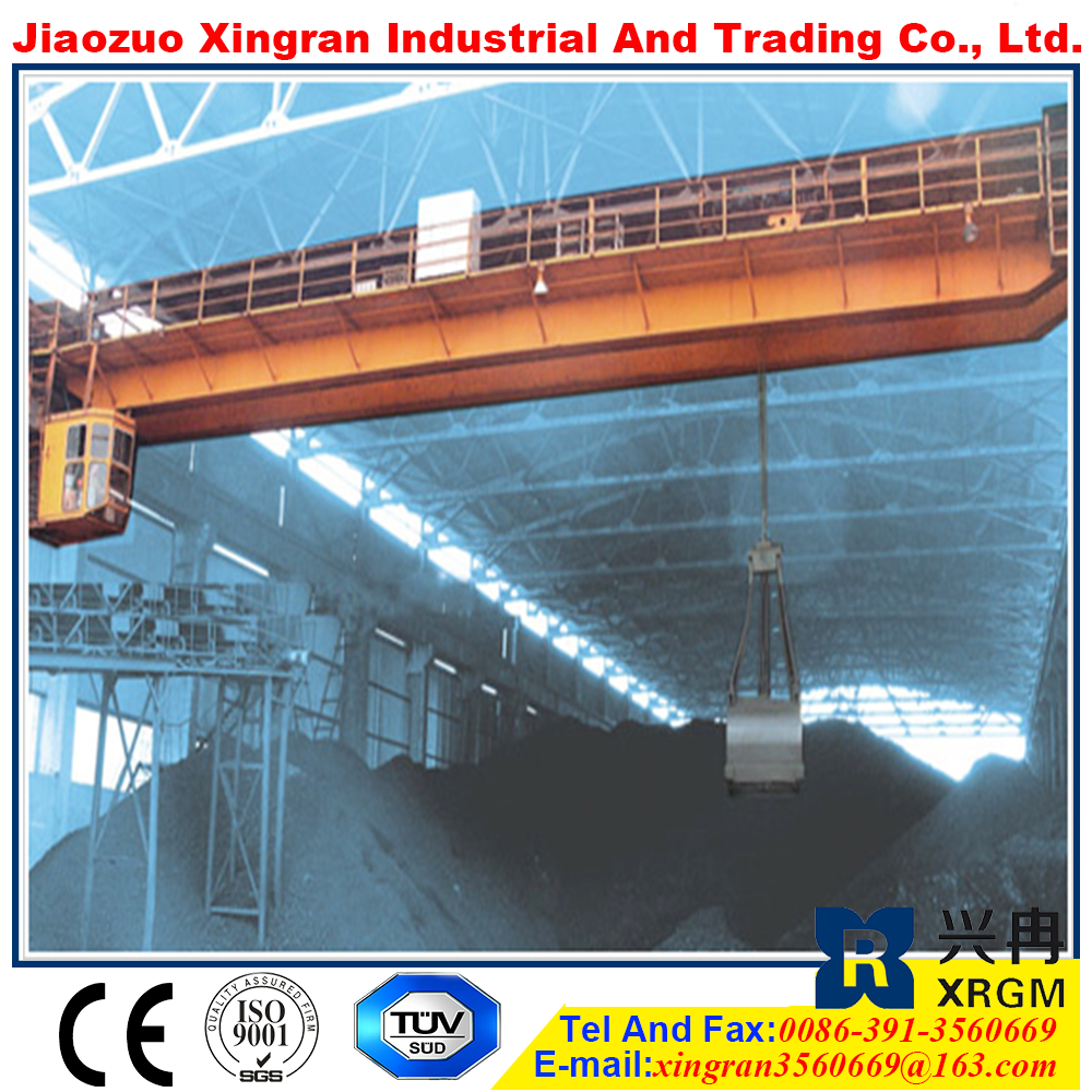 high quality magnet overhead crane 1000 ton crane overhead travelling crane with hook