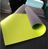The double layer PVC without 6P yoga mat available to customzied logo
