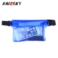 Haissky Waterproof Big Waist Bag Case Cover waterproof Mobile Bag For iPhone 7 plus For Samsung Galaxy Note 5 S6 S7 edge