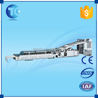 PLC control corrugated carton machinery , semi-auto cold fabric lamination machine