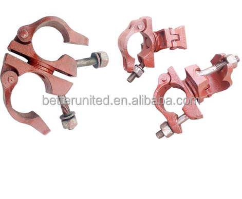 High Quality Factory Casted iron scaffolding coupler/swivel clamp/Unviersal joint clamp