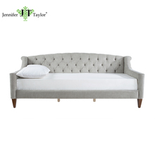 Space-saving home furniture three seats upholstery sofa with no mattress/tufting fabric sofa bed/living room sleeping sofa bed