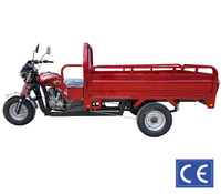 Three-Wheeled Motorized Adult Truck With Hopper / 3 Wheels Cargo Motorbike With 2.0m Wagon